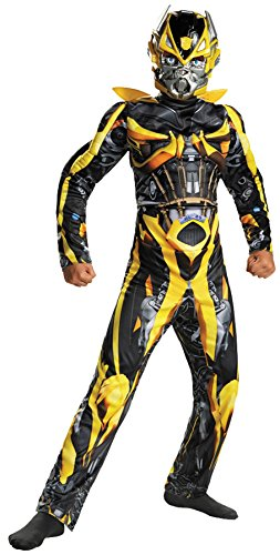 [UHC Boy's Bumblebee Classic Muscle Kids Child Fancy Dress Party Halloween Costume, L (10-12)] (Plus Size Deluxe Bumblebee Costumes)