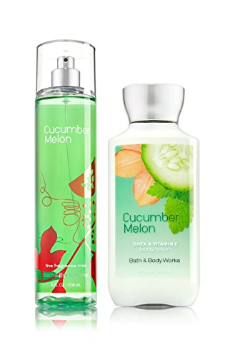 Splash Melon Cucumber Body - Bath & Body Works Cucumber Melon Mist & Cucumber Melon Lotion Gift Set