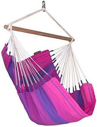 LA SIESTA Orqu dea Purple – Cotton Basic Hammock Chair