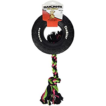 Amazon.com : Mammoth TireBiter Chew Toy with Rope, Large
