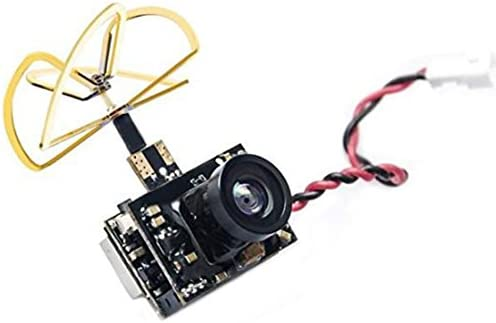 AKK Micro FPV AIO Camera (600TVL) and 5.8G 0/25/50/200mW Switchable Transmitter with Clover Antenna for FPV RC Car FPV Drone Micro RV Plane Whoop Blade Inductrix