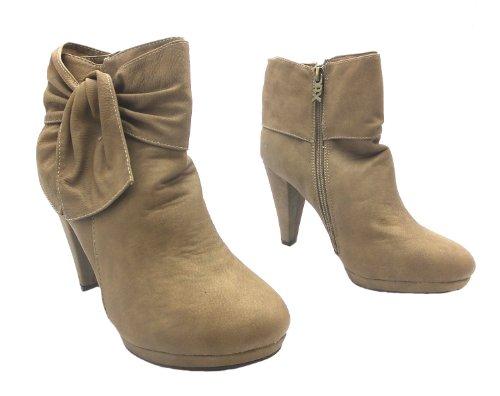 Xti Ladies Ankle, Stivali donna beige Beige