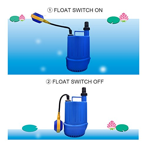 SONGJOY Submersible Utility Pump 1/6 HP Clean Dirty Sump Pump with Float Switch for Swimming Pool Pond Basement Drainage Garden Irrigation Transfer by SONGJOY (Image #5)