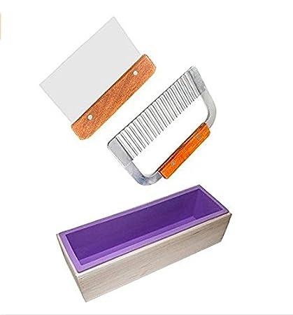 .com: 6miles 1 purple flexible rectangular silicone soap mold ...