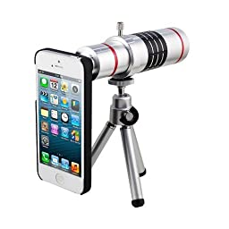 18x Optical Zoom Telescope Camera Lens with Tripod for iPhone 5/5s