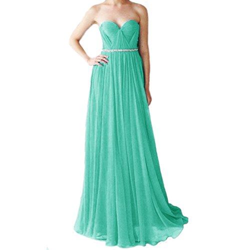 Lang Ballkleid linie Damen Abendkleider Festkleider A Elegant Hellgrün Chiffon Silk LuckyShe 0A5SqwS