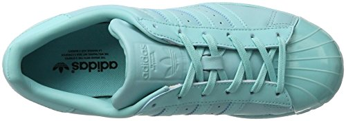 adidas Superstar Glossy Toe Womens Trainers Mint - 6 UK PCLZGh