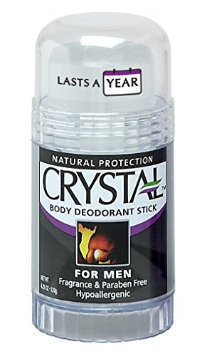 Crystal Mineral Deodorant Stick for Men, Unscented, 4.25 oz