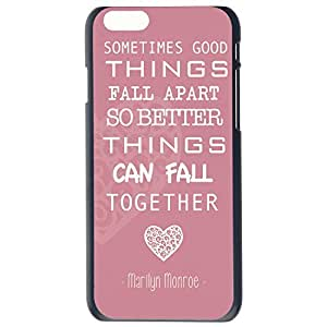 Fashion Marilyn Monroe Quote Love Turquoise Plastic Hard Case Cover Back Skin Protector For Apple iPhone 6G Plus 5.5 by Alexism Size185