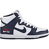 Nike SB Mens Dunk Pro High Skateboarding Shoes (Red / Obsidian)