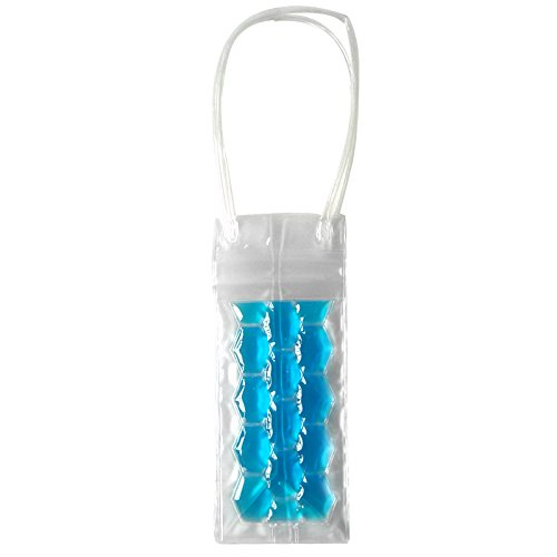Azul BESTONZON Bolsa de Hielo de PVC para Botella de Vino Cereza Champagne con Asa para Restaurante Bares Discotecas 2 Lados