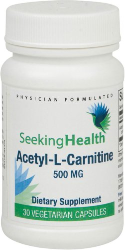 Ацетил-L-карнитин | 500 мг | 30 Easy-To-Ласточкиного вегетарианские капсулы | Бесплатный Из общих аллергенов | Ищу Здоровье