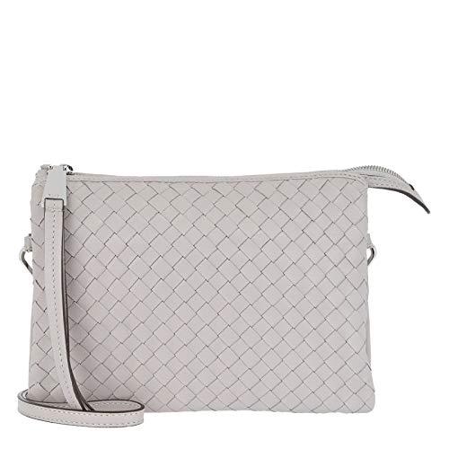 Abro Piuma Leather Crossbody Bag Stone - Cross Body Bag - grigio - cuoio - Donna - taglia unica