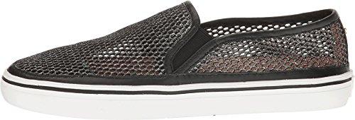 Kate Schoppen New York Womens Sallie Fashion Sneaker Zwart Metallic Mesh / Nappa