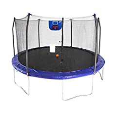 Show off your basketball skills with the Skywalker Trampolines 15' Round Trampoline Jump N' Dunk! This 15' trampoline allows kids to be the star of the court as they jump, shoot, and dunk their way to victory. The versatile basketball hoop de...