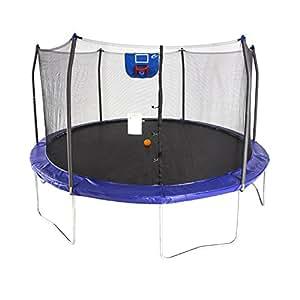 Skywalker Trampolines Jump N' Dunk Trampoline with Safety Enclosure and Basketball Hoop, Blue, 15-Feet