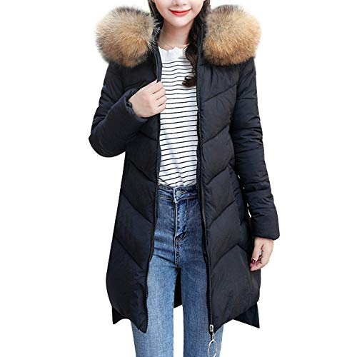 CUCUHAM Women Winter Warm Faux Fur Coat Hooded
