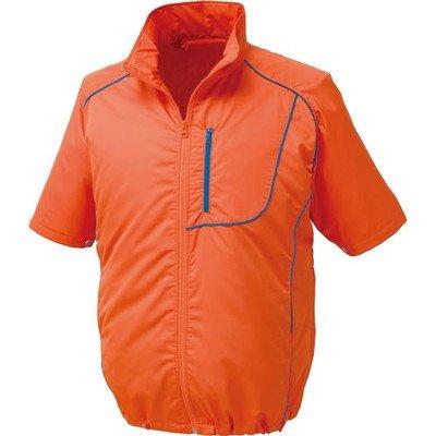 ポリエステル製半袖空調服 BP500S リチウムバッテリーセット 〔カラー:オレンジ×ネイビー サイズ:M〕[通販用梱包品] B07DGVB2X5