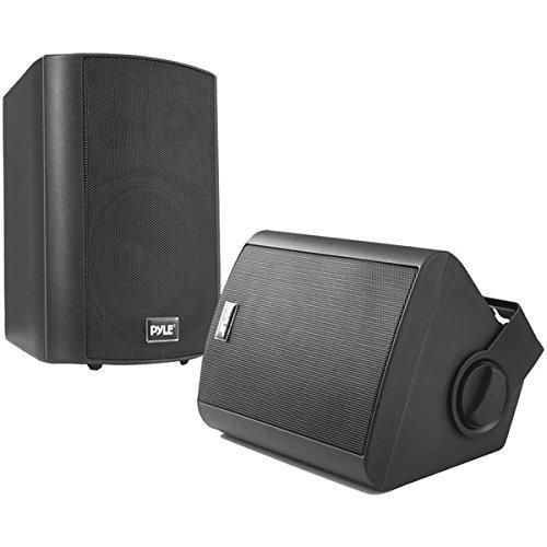 PYLE HOME PDWR52BTBK 5.25'' Indoor/Outdoor Wall-Mount Bluetooth(R) Speaker System (Black)