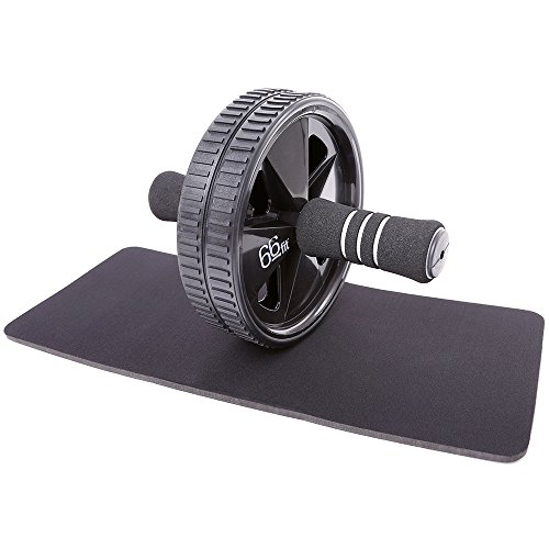 66fit Ab Roller Wheel & Knee Pad - Abs Core Abdominal Workout Fitness...