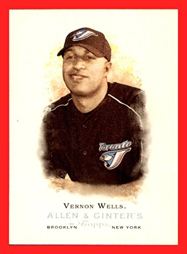 2006 Topps Allen and Ginter #4 Vernon Wells TORONTO BLUE JAYS
