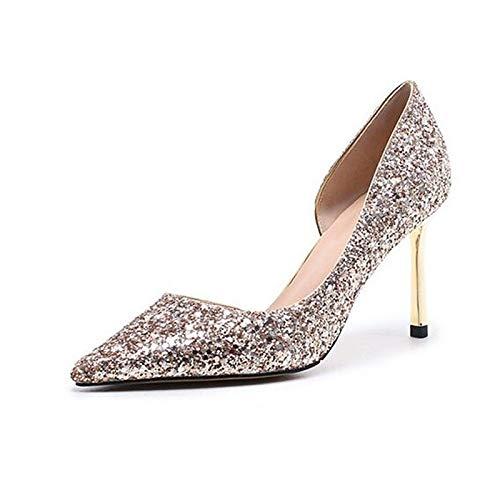 ZHZNVX ZHZNVX ZHZNVX Damen Schuhe Denim Sommer Komfort Heels Stöckelabsatz Gold Weiß   Schwarz 00b6d9