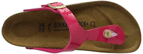 Birkenstock Gizeh Birko-Flor, Chanclas para Mujer Pink (Pink Lack)
