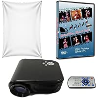 Virtual Reality Christmas Projector Kit with Projector Mr and Mrs Claus DVD and High Resolution Screen