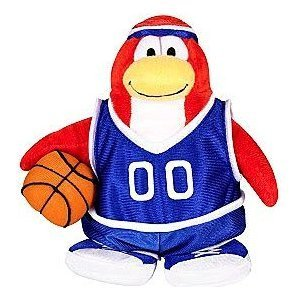 Club Penguin Basketball - Disney Club Penguin 6.5 Inch Series 3 Plush Figure Basketball Player (Includes Coin with Code!) by Jakks Pacific