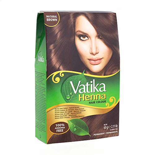 Vatika Henna Hair Colour- Natural Brown 60gms (Best Henna For Hair Color)