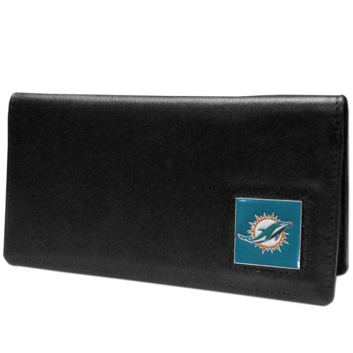 (NFL Miami Dolphins Leather Checkbook Cover)