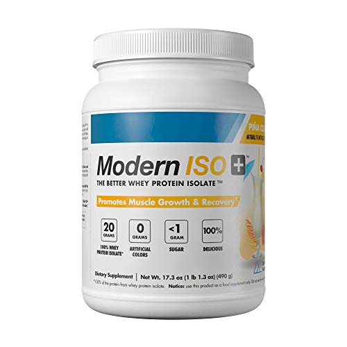 Modern ISO+ 20g of Refreshing, Delicious, Ultra-Pure Whey Protein Isolate Powder in Light Tasting, Clear Mixing Fruit Flavors, 20 Servings!