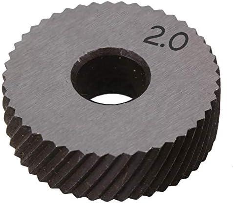 No Logo Rändelfräswerkzeuge 1 Paar 2.0mm Wälzfräser Rad Rändelrad Strukturierter Knurled Lathe Prägeradabschnitt Werkzeugmaschinen Zubehör Hebt für Metalldrehmaschine