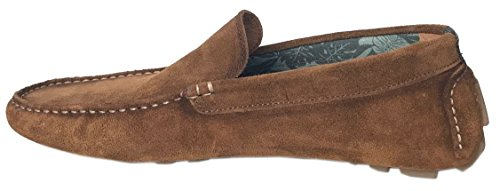 Replay Custer Marron Hommes Daim Moccasin Chaussures