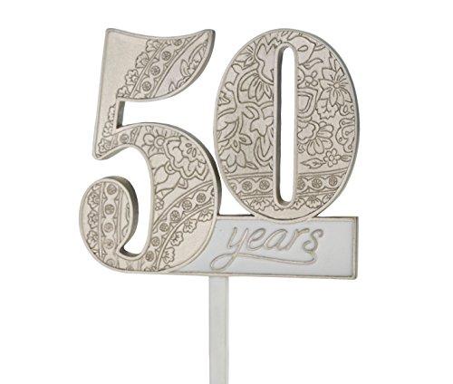 (Lillian Rose 50th Anniversary Decor Number Cake Topper)