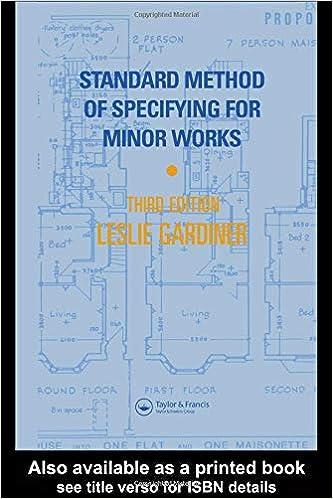 st andard method of specifying for minor works gardiner l