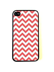 CellPowerCasesTM Coral Chevron iPhone 5s Case - Fits iPhone 5s and iPhone 5s
