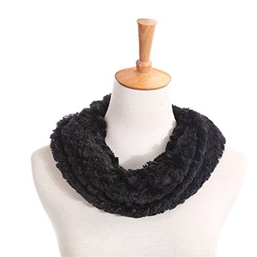 Scarf Clearance  Super Soft Womens Blend Circle Collar Cozy Shawl Wrap Scarve (Black)
