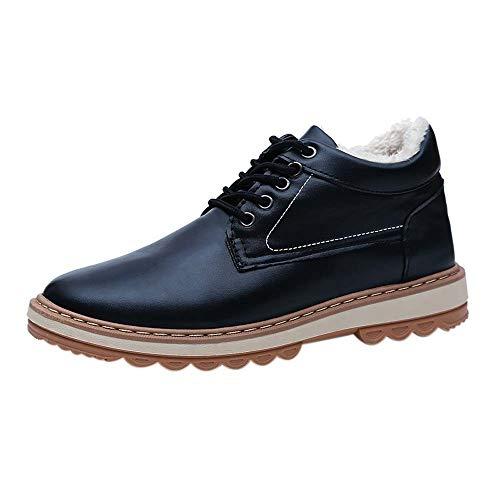 Price comparison product image Gift Ideas! Teresamoon Men's Casual Plus Cotton Snow Boots Winter Plus Velvet Waterproof Men's Shoes