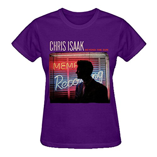 Abover Chris Isaak Beyond The Sun Plain T Shirts For Women Crew Neck Purple]()