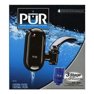 PUR 3 Stage Vertical Faucet Mount with Filter - Black - FM4100