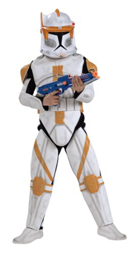 Cody Costume Star Commander Wars (Star Wars Clone Wars Clone Trooper Child's Deluxe Commander Cody Costume,)