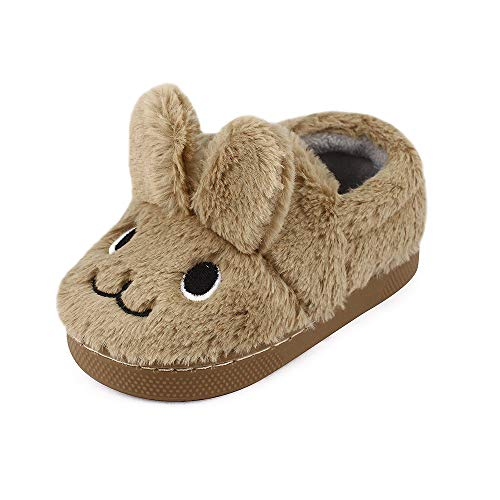 MK MATT KEELY Toddler Girls Bunny Slippers Winter Warm Shoes Rabbit House Soft Slippers