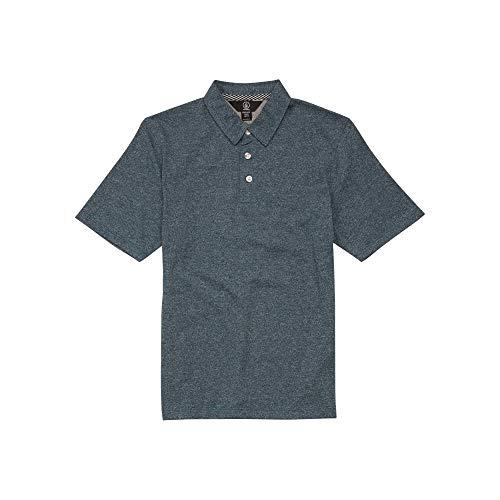 Volcom Boys' Big Wowzer Modern Fit Cotton Polo, Navy Green, Large