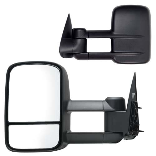 Fit System 62073-74G Chevrolet/GMC Driver/Passenger Side Replacement Manual Foldaway Towing Mirror Set with Dual Glass