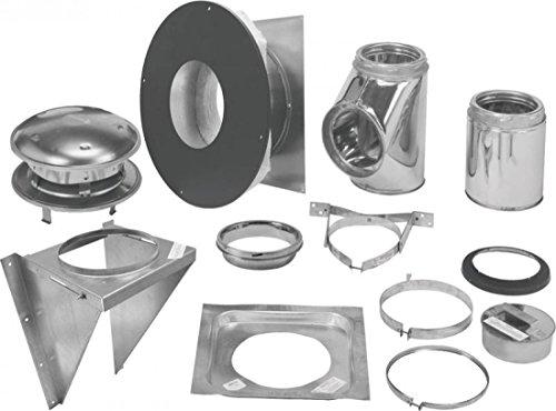 Selkirk Metalbestos 206622 6-Inch Complete Stove Thru Wall Kit