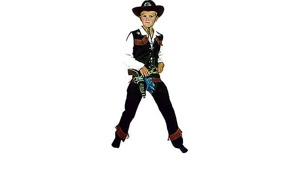 erdbeerclown – Disfraz de vaquero con flecos oscura para niños ...