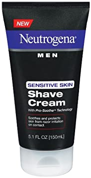 Neutrogena Men Sensitive Skin Shave Cream, 5.1 Ounce (Pack of 3)