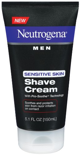 - Neutrogena Men Sensitive Skin Shave Cream, 5.1 Ounce (Pack of 3)