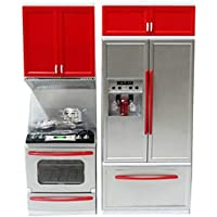 Revent Kitchen Modern Kitchen Battery Operated Play Set with Refrigerator